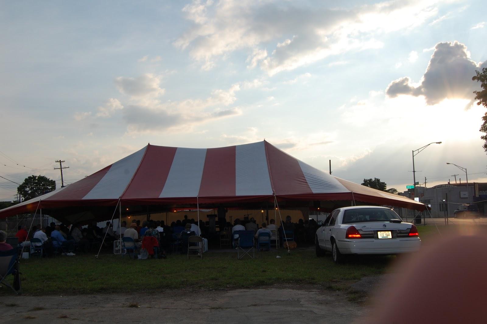 The Gospel Tent set up in Columbus Ohio & Evangelist Craig Cobb: ROUND-UP: AMAZING GRACE BAPTIST CHURCH TENT ...