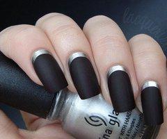 matte black nails, nail art
