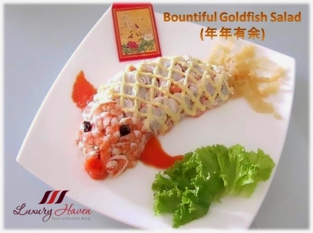 chinese new year auspicious bountiful goldfish salad recipe