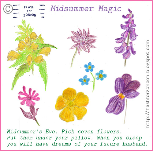 Midsummer Magic with seven flowers