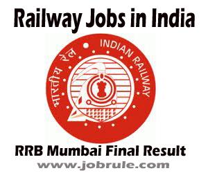 RRB Mumbai Final Result (CEN 06/2010) of Stuff Nurse and Health & Malaria Inspector Grade-III Jobs 2013