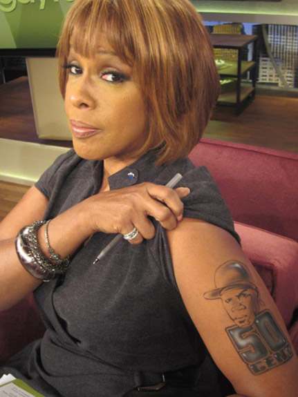 does gayle king have a tattoo empire bbk