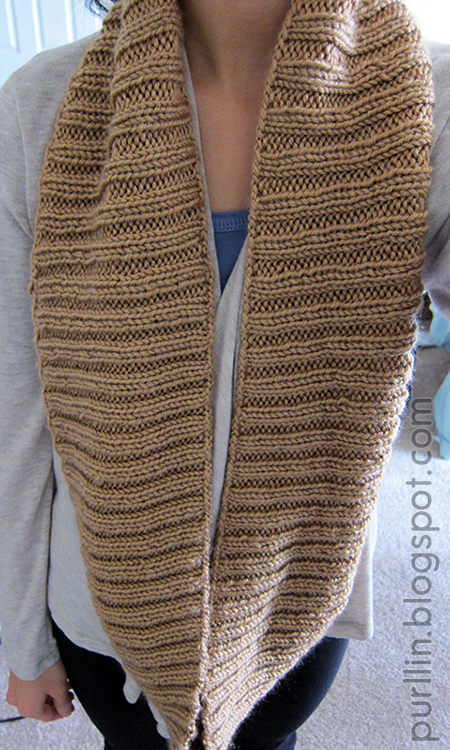 Purllin: Autumn Infinity Circle Scarf (free pattern)
