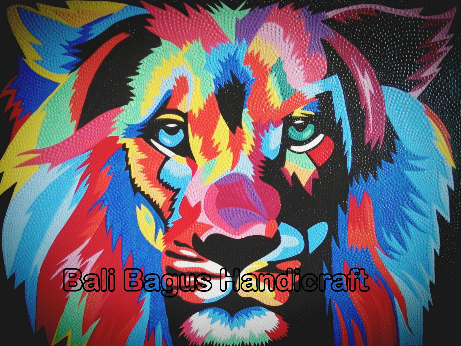 Bali Canvas Dot Paint Painting Aboriginal Australia Wall