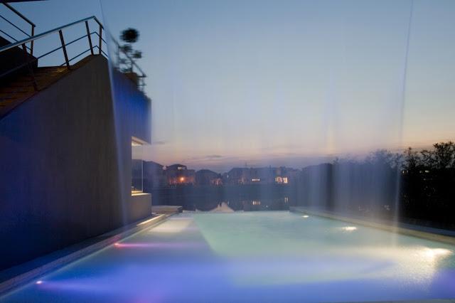 Waterfall and pool lighting