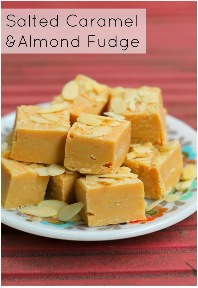 Super Easy Salted Caramel and Almond Fudge | Knitting on Trains