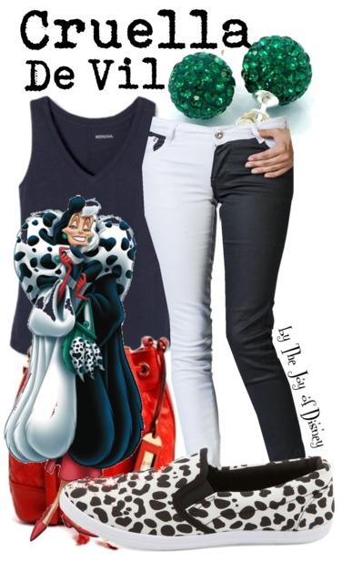 Cruella De Vil Outfit, Disney Fashion