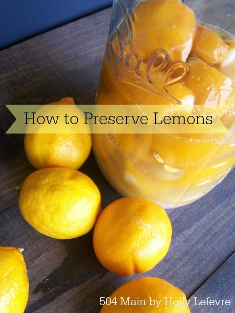 Salt, lemons, juice and a jar are all you need to make preserved lemons for use in your favorite recipes.