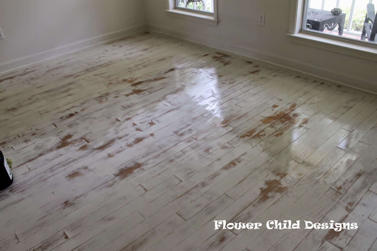 Flower Child Designs: Oh Yes I Did Paint My Wood Floors, Thank You Very  Much!