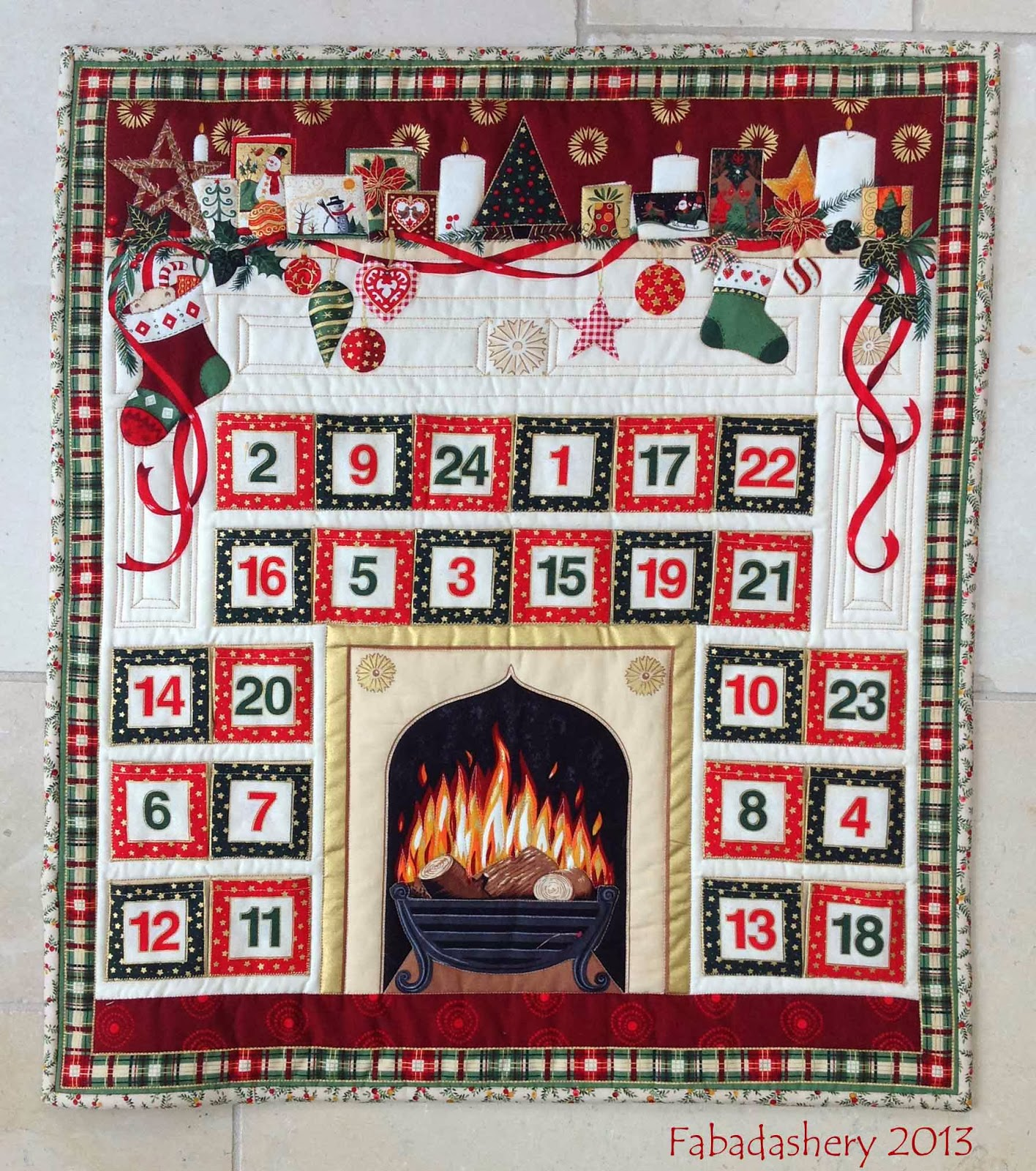 Makower Advent Calendar Quilt