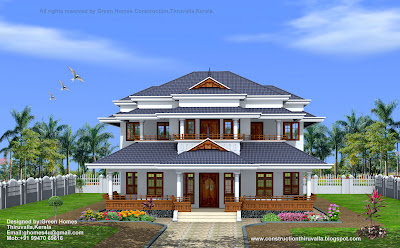Traditional+style+kerala+home+design,kerala+home+with+courtyard