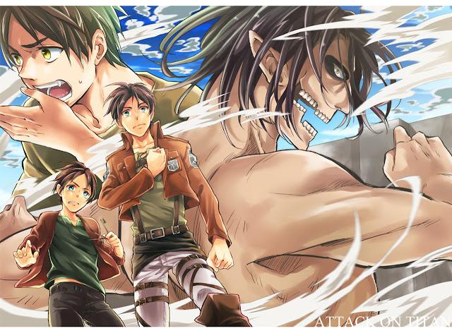 Eren Jaeger Titan Form Shingeki no Kyojin Attack on Titan Male Boy HD Wallpaper desktop pc background 2133
