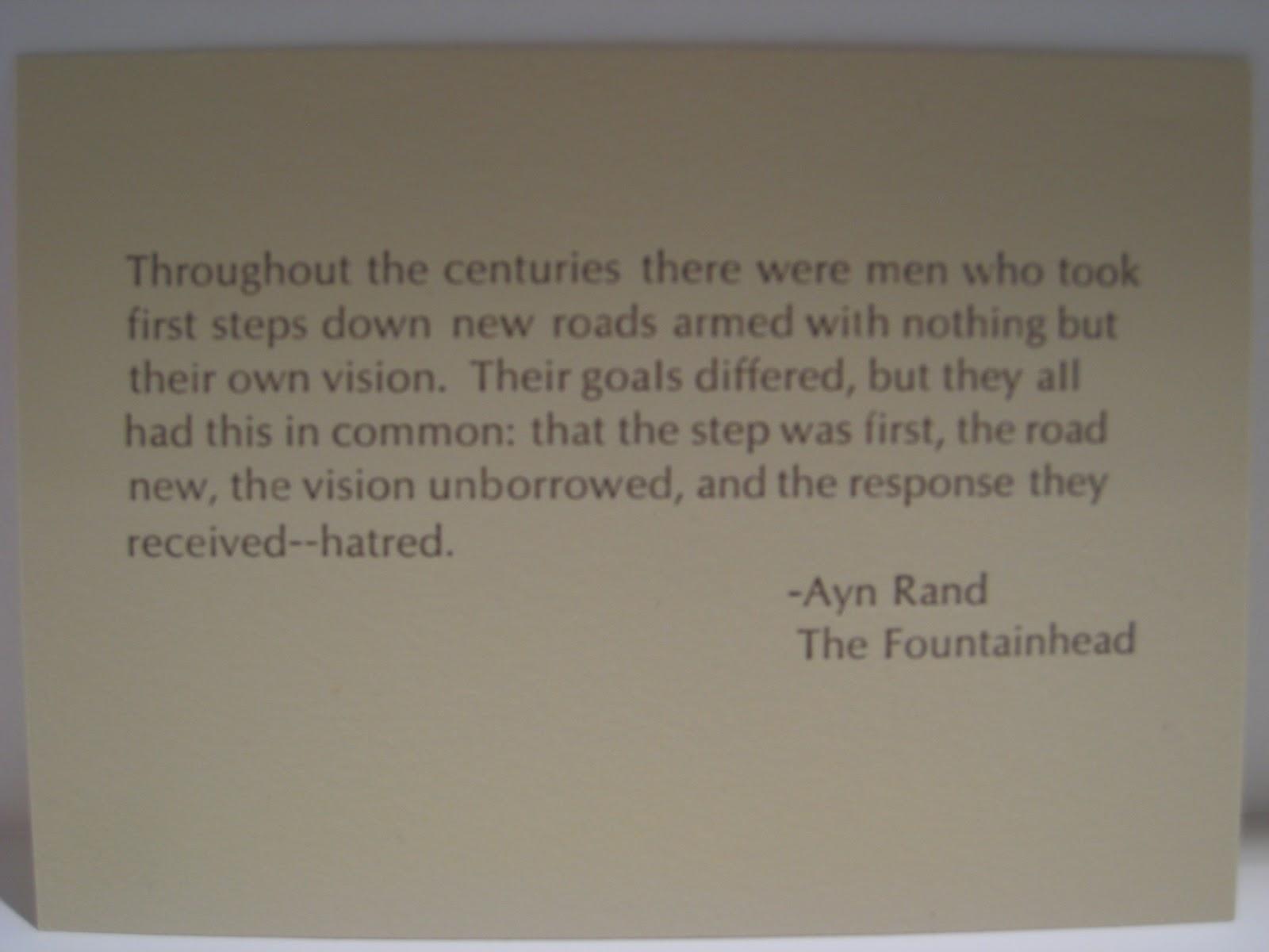 Ayn rand fountainhead essay contest