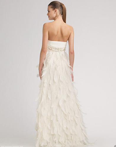 My superficial endeavors my sue wong wedding dress arrived for White feather wedding dress
