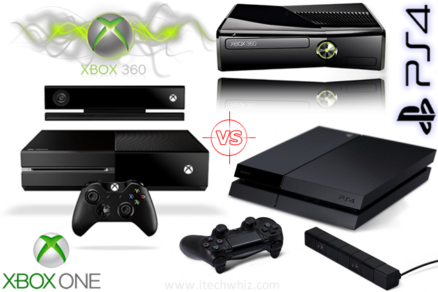 Playstation 4 vs Xbox ONE vs Xbox 360 Specs Comparison