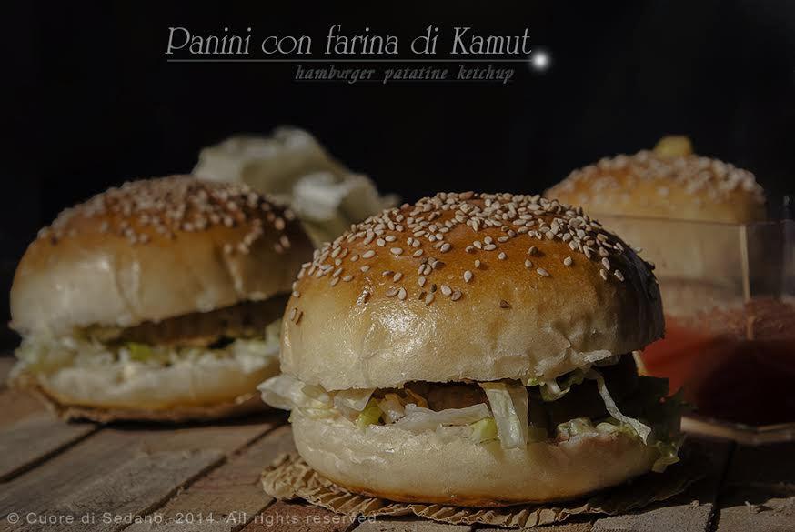 Popolare La ricetta dei Burger buns: Panini con farina di kamut al sesamo  CJ32