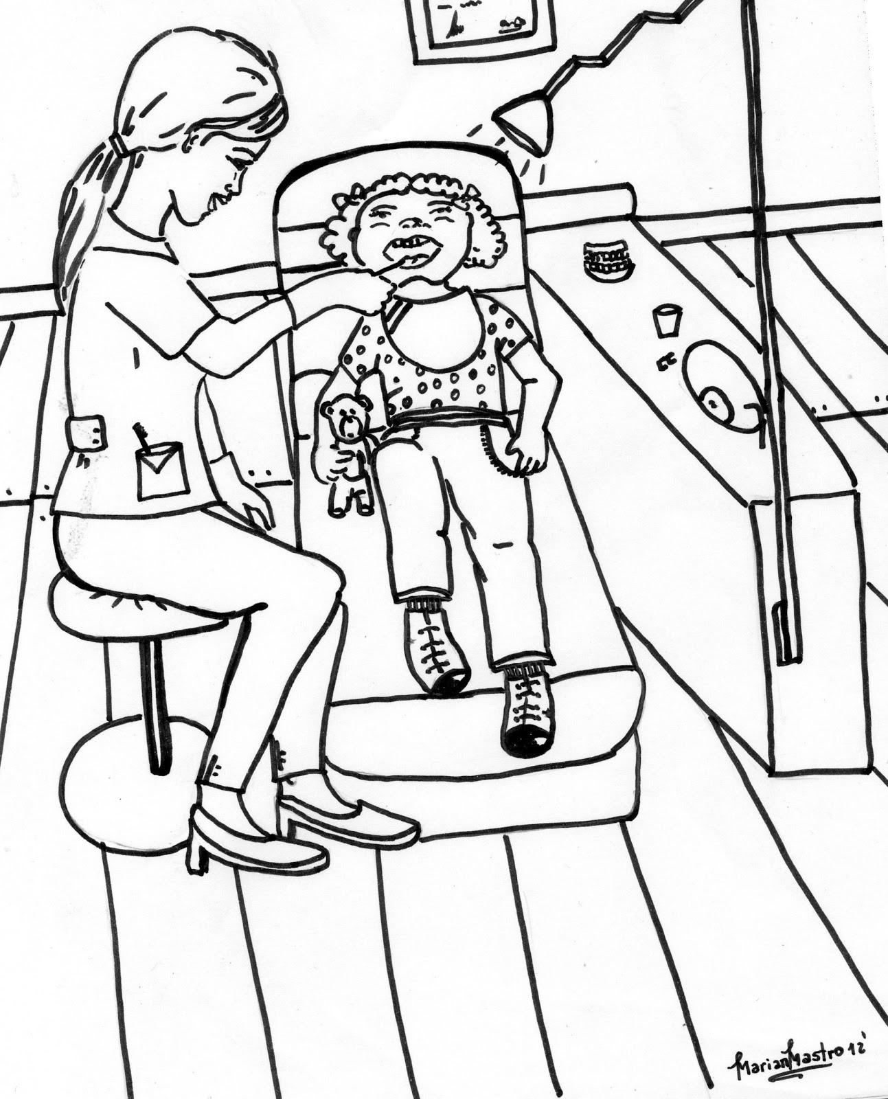 Dibujos Para Pintar Oficios Y Profesiones Dentista