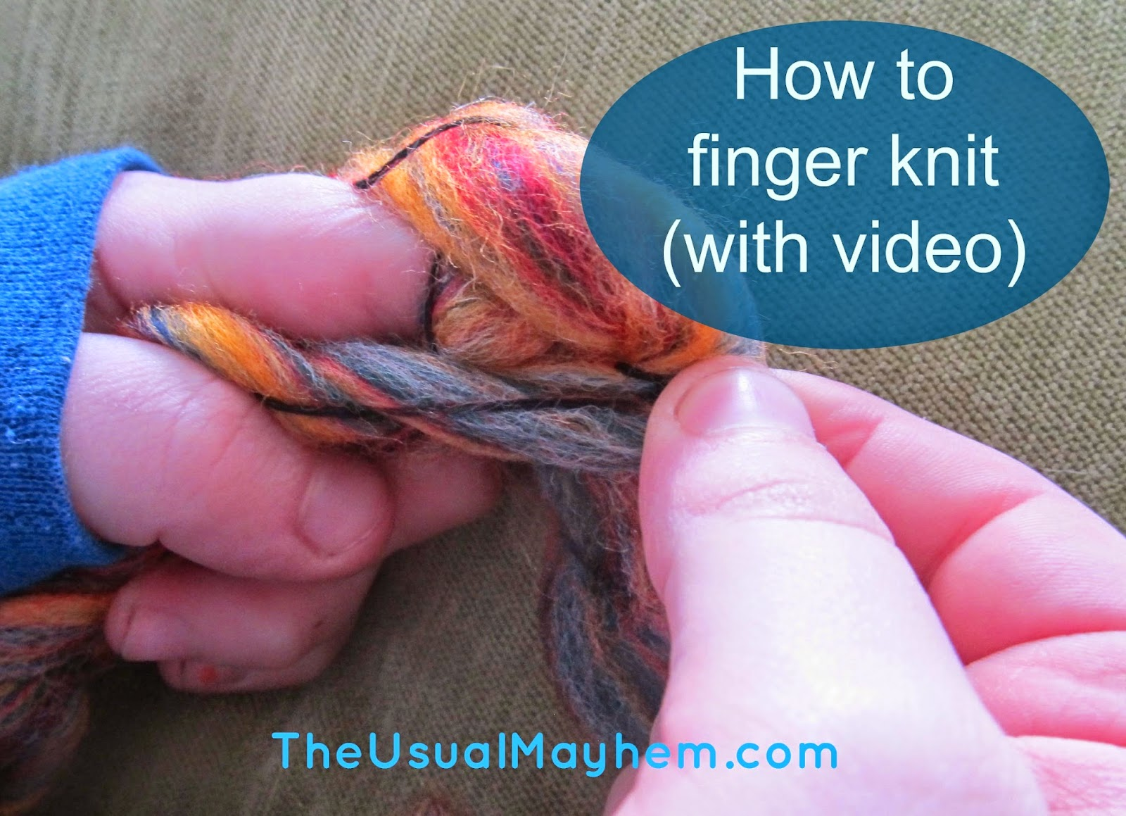 how to finger knit with video