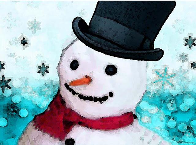 snowman christmas art