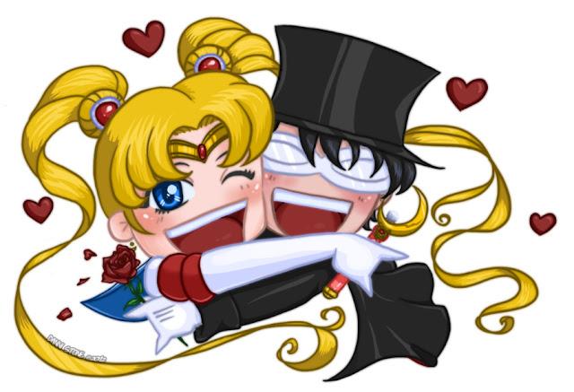 Chibi Sailor Moon x Tuxedo Mask por Danni-Stone