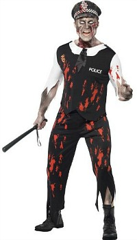 zombie police man outfit