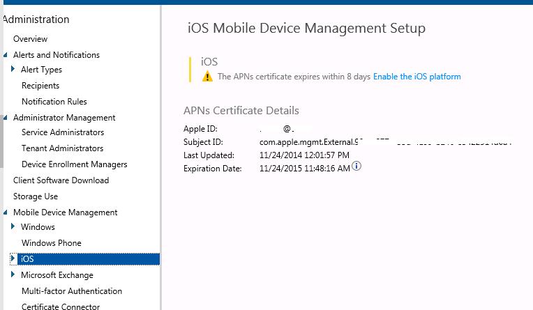 Gerry Hampson Device Management: Microsoft Intune - renew Apple APN ...
