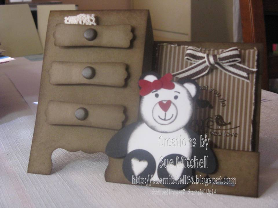 Card Making Ideas In Australia Part - 18: I Made One Punch Art Teddy And Loved It So Much I Had To Make More And Then  The Panda Evolved As Well. All Made From Stampinu0027 Up Punches, Card Stock,  ...