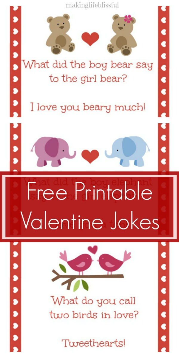 Valentine joke cards