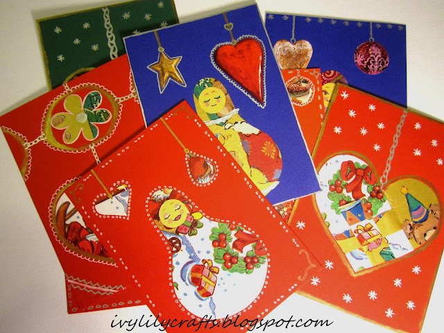 handmade christmas cards itsetehdyt joulukortit