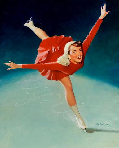 Vintage Pinups - Figure skating