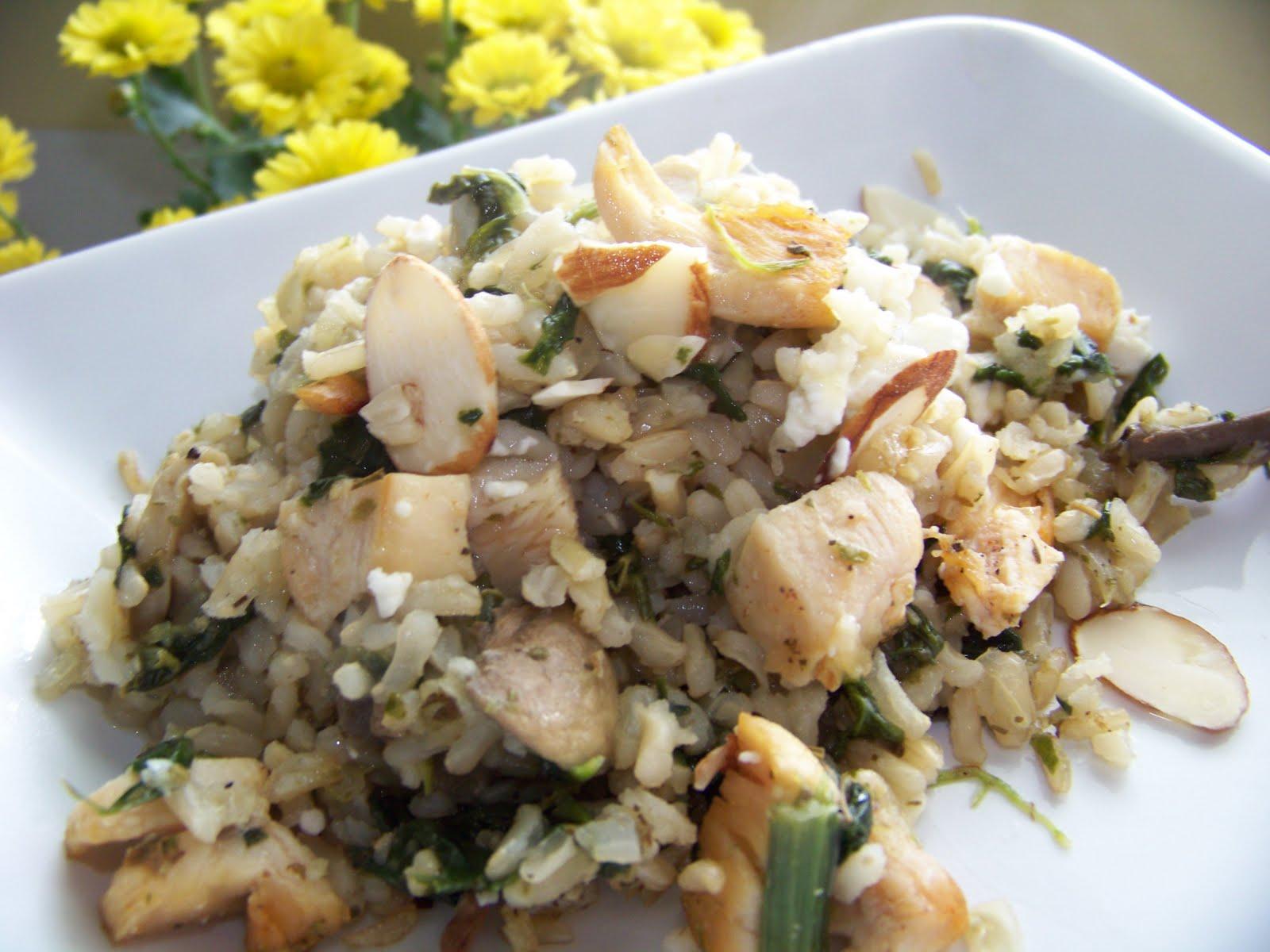 Greek Chicken & Spinach Rice