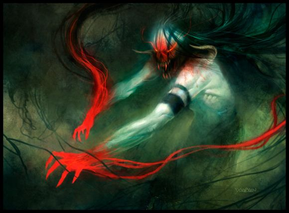 mike lim daarken ilustrações fantasia medieval violência batalhas monstros arte conceitual video games Vampiro demoníaco