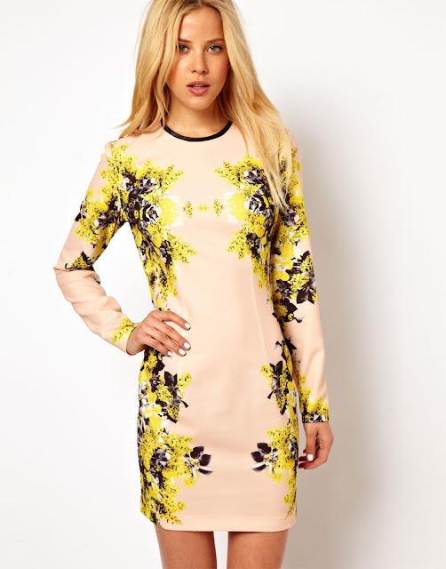 mirror floral dress