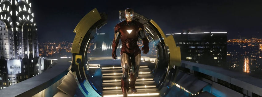 Iron man in the avengers movie facebook cover