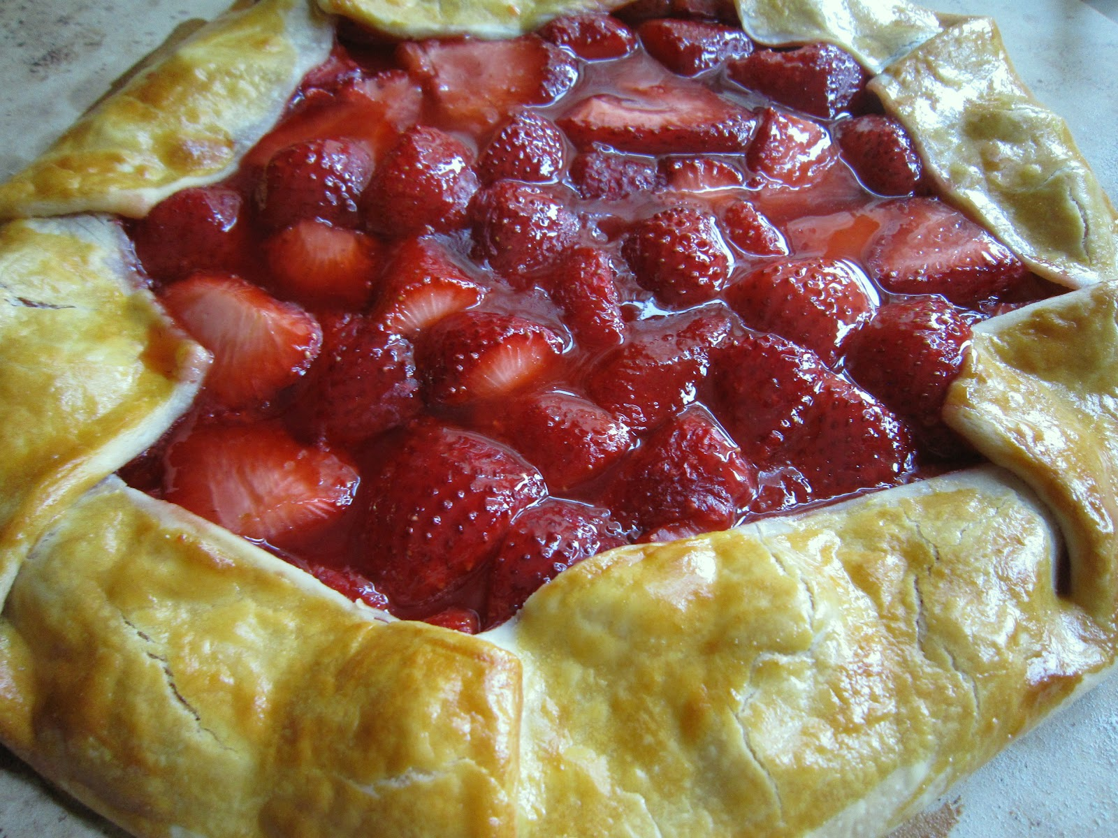 Taste the Rainbow: Strawberry Galette ~