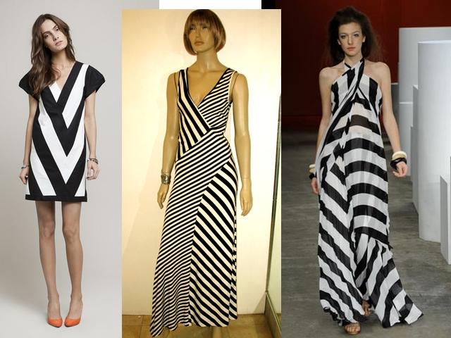 """""""vestido-preto-e-branco-de-listras-geométricas"""" www.alinhavosdemoda.com.br"""