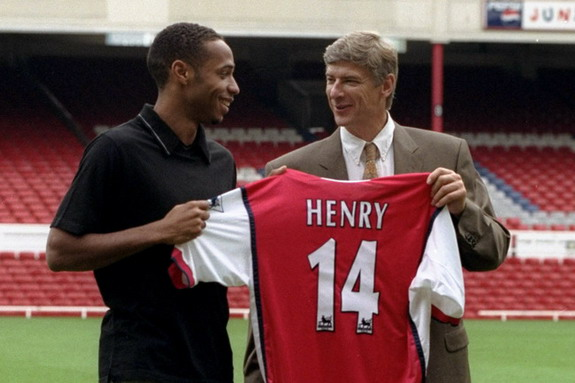 Thierry Henry only joined Arsenal because he bumped into Arsène Wenger on a plane