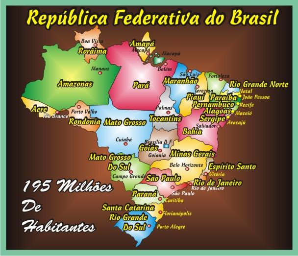 Brasil 27 Unidades da Federação