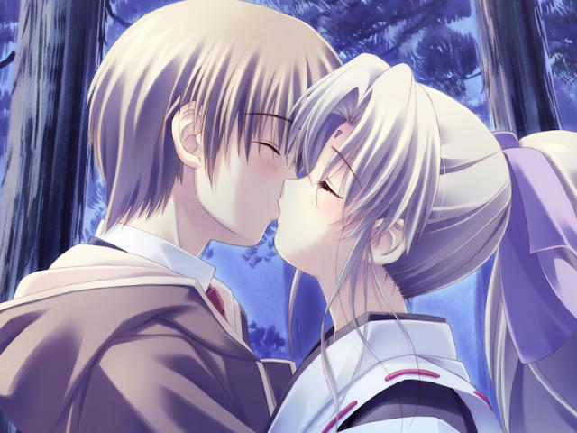 hình ảnh về tình yêu đẹp lãng mạn dễ thương, hoạt hình hôn nhau