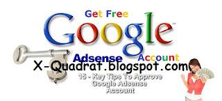 Trik Jitu Di Terima Dan Di Approve Google Adsense