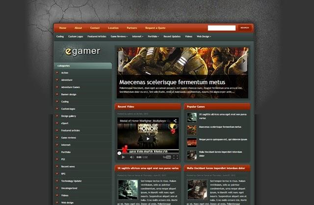 eGamer Free Download Blogger Template