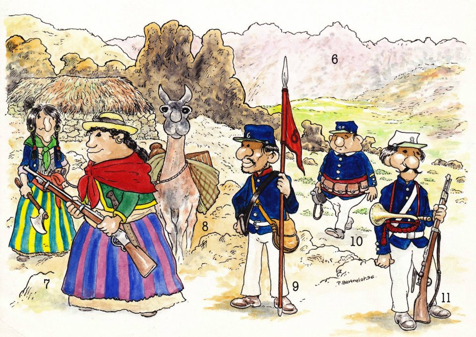 La Guerra del Pacífico 1879-1884 (Perú, Bolivia y Chile)