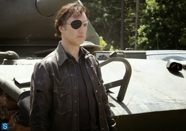 The Walking Dead 4x08 - Too Far Gone: Governor and a tank