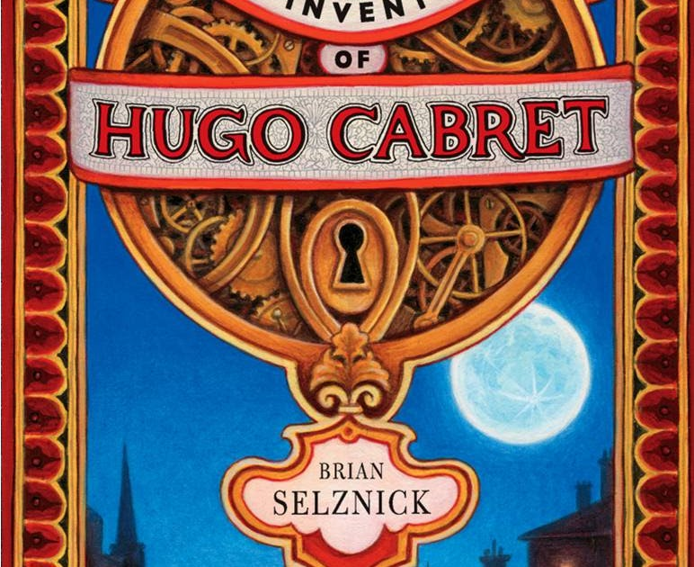 the invention of hugo cabret by Hugo's father died recently, leaving behind a cryptic notebook of drawings and an automaton, a mechanical human, who's frozen stiff with a pen in his hand, as if he were about to write a message hugo is obsessed with getting the machine to work, so he can learn what that message was.