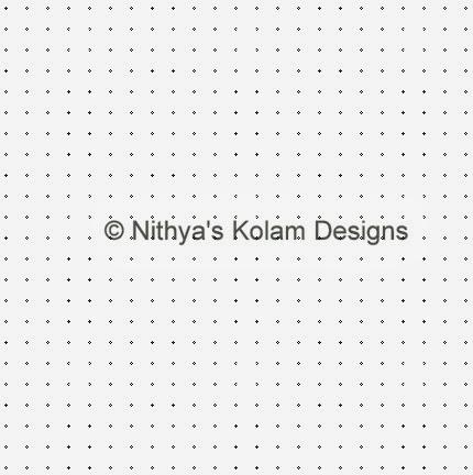 1 Kolam 105: Lines Kolam 23 to 23 dots
