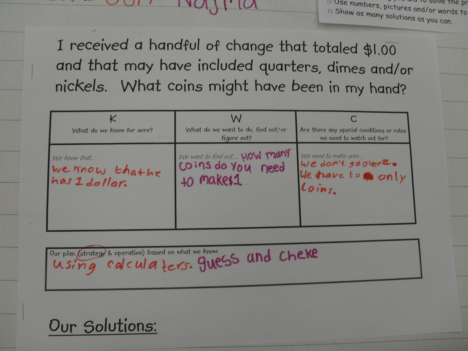 Demonstration classroom sharing three part lesson money ccuart Choice Image