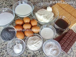 Prajitura cu mac Tosca ingrediente reteta