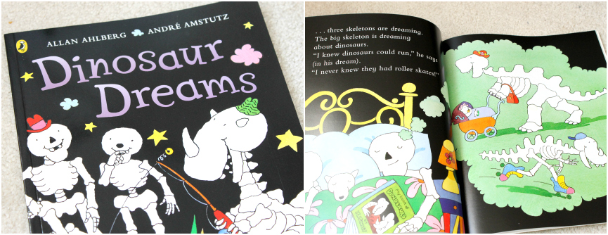 Kids Halloween Books, dinosaur dreams, funny bones