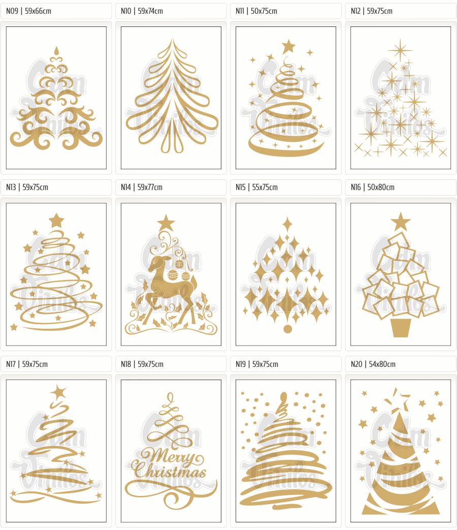 Ploteo vinilo vidrieras navidad a o nuevo fiestas - Decorativos de navidad ...