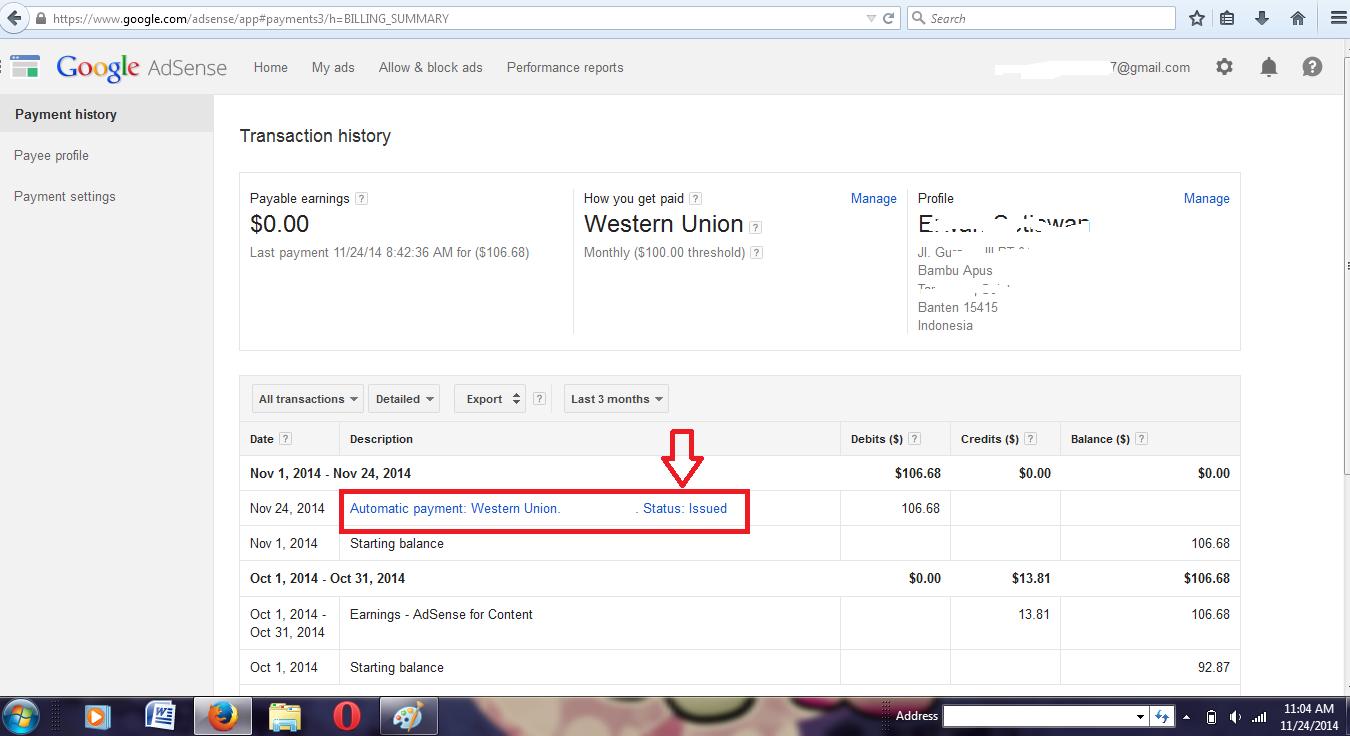 Google Email Bukti Pembayaran Google Adsense